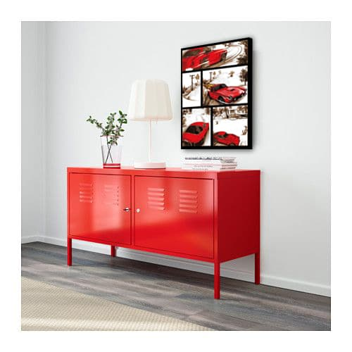 toile deco rouge meuble ikea