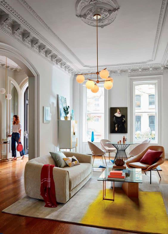 déco salon moderne colore et design