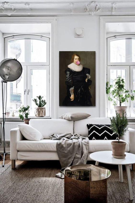 decoration salon moderne avec un tableau design