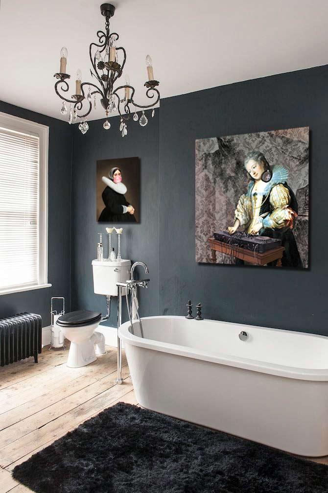 Salle de bain originale baroque décalée