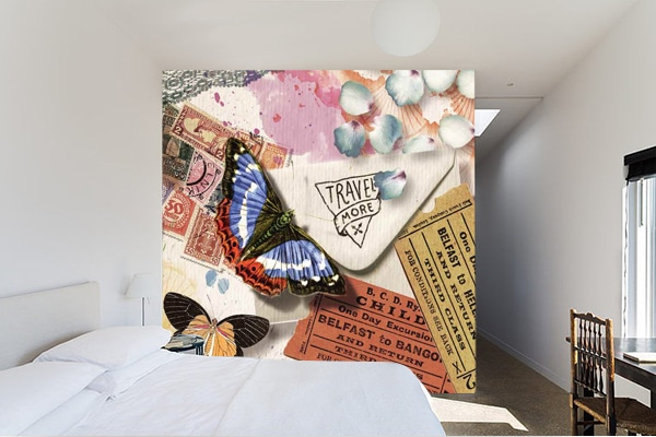 poster mural sur cloison pour séparer les escpaces