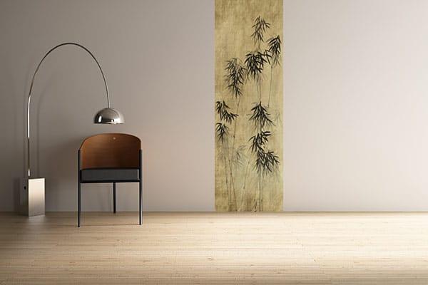 lé unique papier peint zen bambou