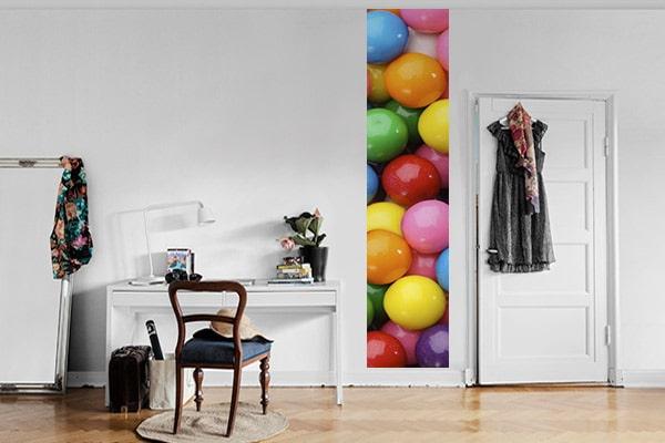 poster mural coloré boules de gomme