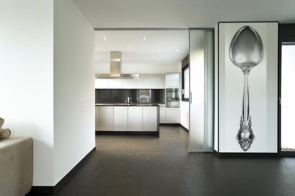 Papier peint design pour cuisine et salle à manger