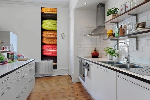 Papier peint coloré pour cuisine