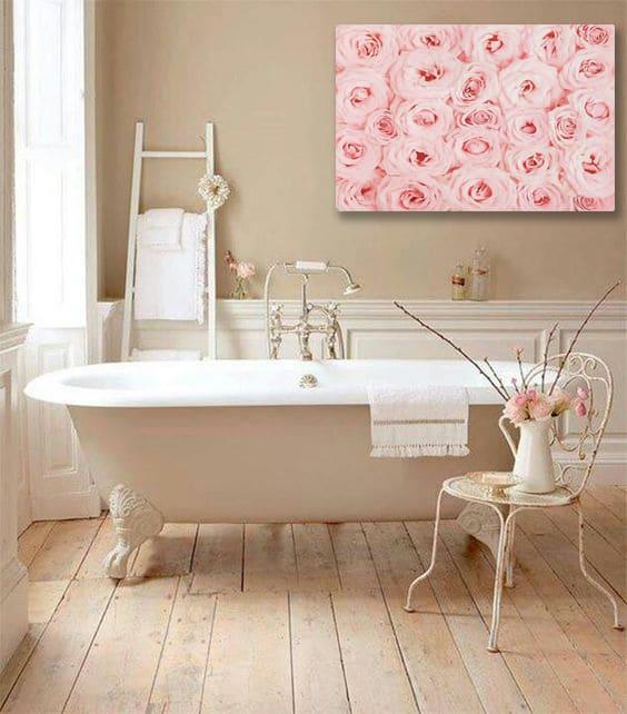 salle de bain romantique
