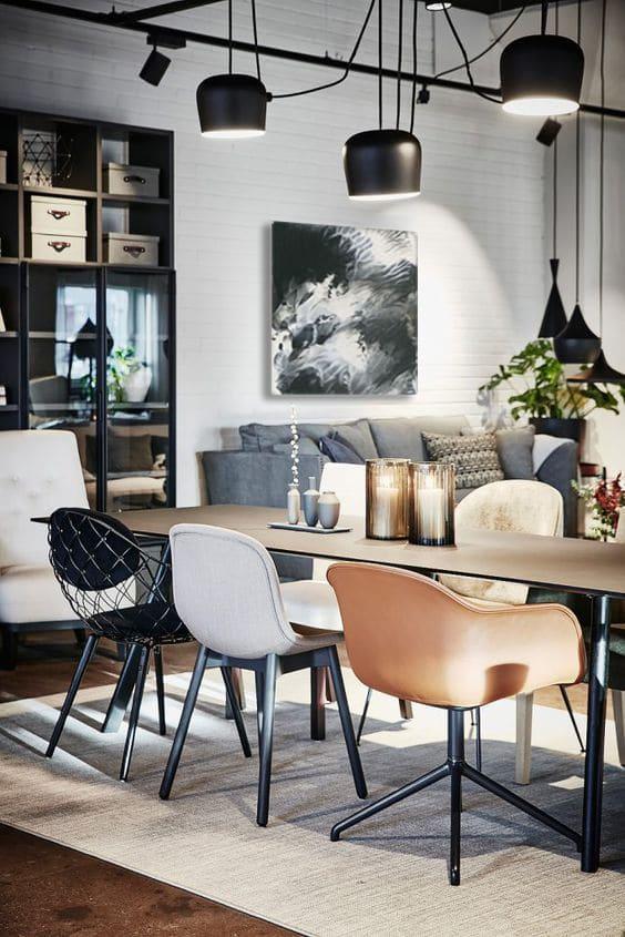 tableau abstrait design salle à manger
