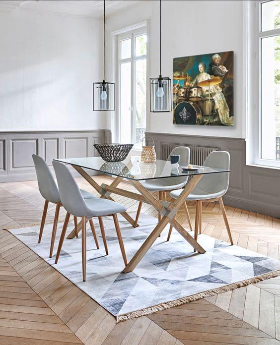 tableau contemporain baroque salle à manger originale