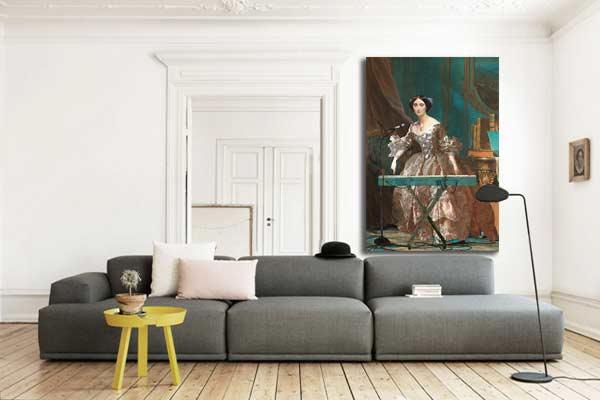 tableau deco baroque moderne