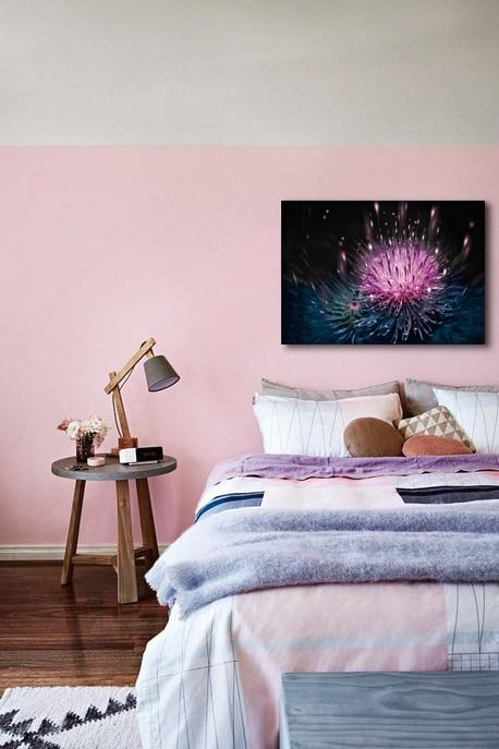 tableau moderne pour chambre rose