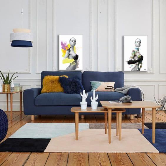 tableaux diptyque moderne