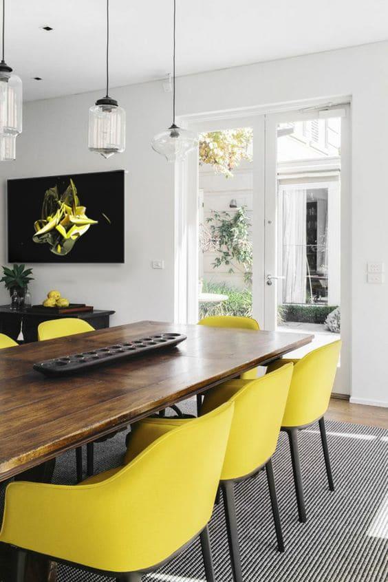 toile abstrait design art contemporain salle à manger