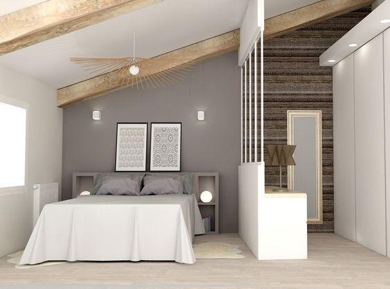 Chambre décoration grise contemporaine