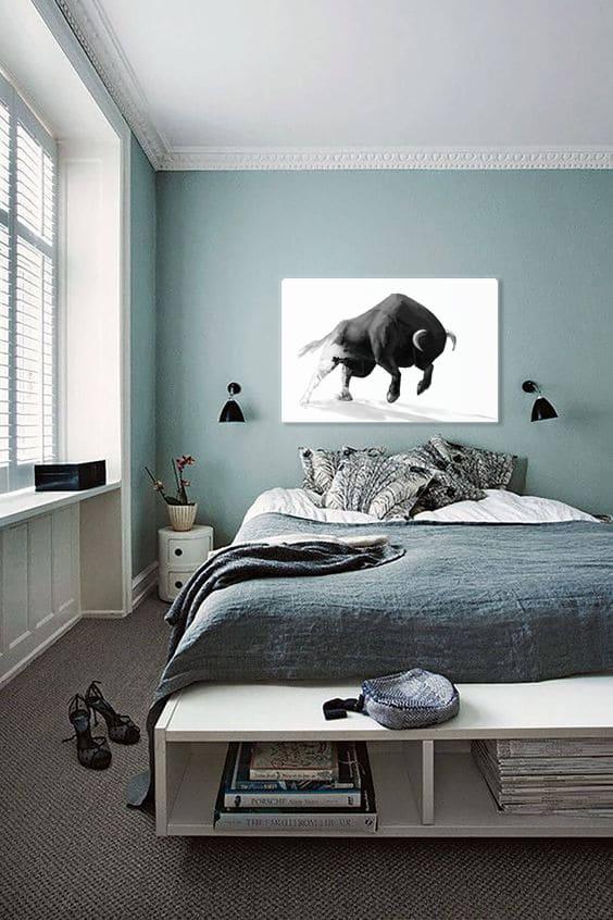 cadre déco taureau chambre moderne