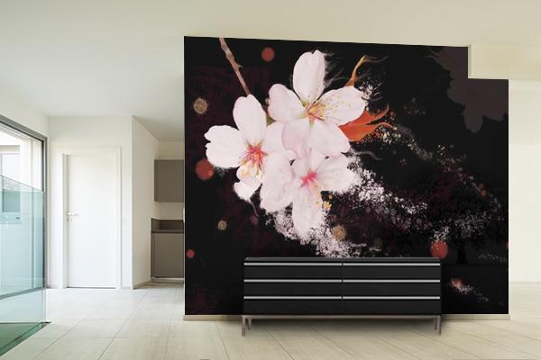 décoration murale design poster géant fleur