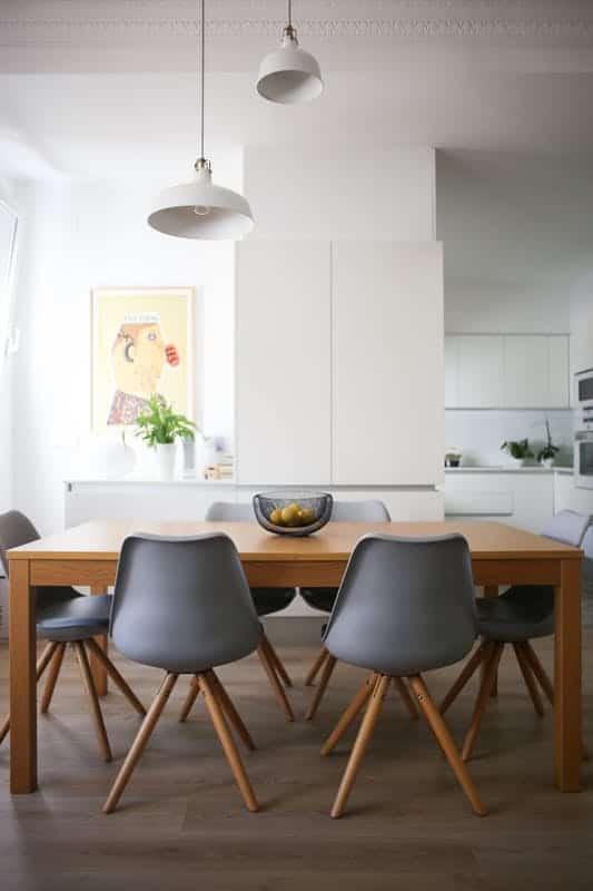Salle à manger design et minimaliste