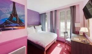 Décoration hotel poussin paris 16 tableau Izoa