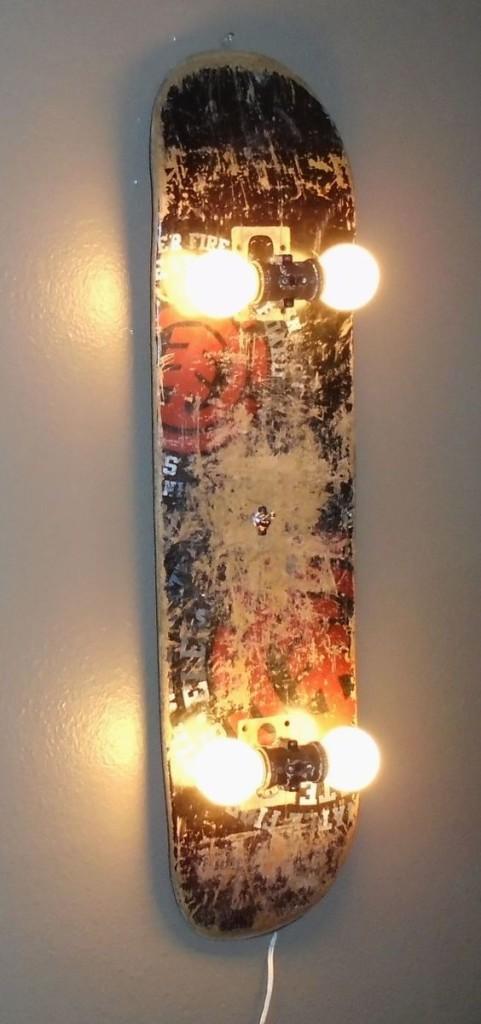 luminaire original planche de skate