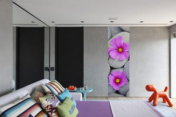 Frise murale fleur zen