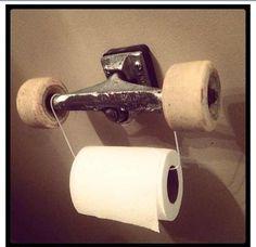roues skate papier toilettes