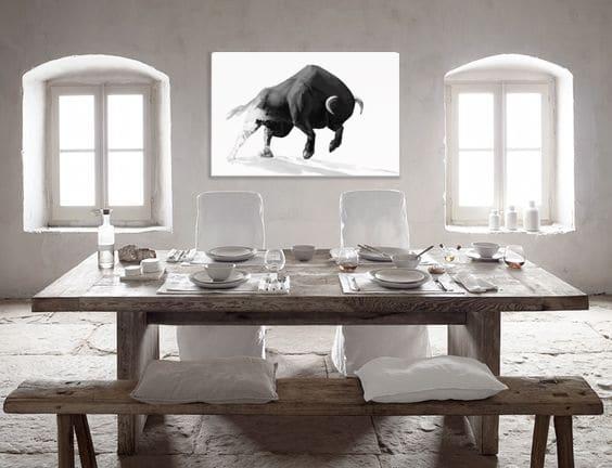 salle à manger blanche déco minimaliste