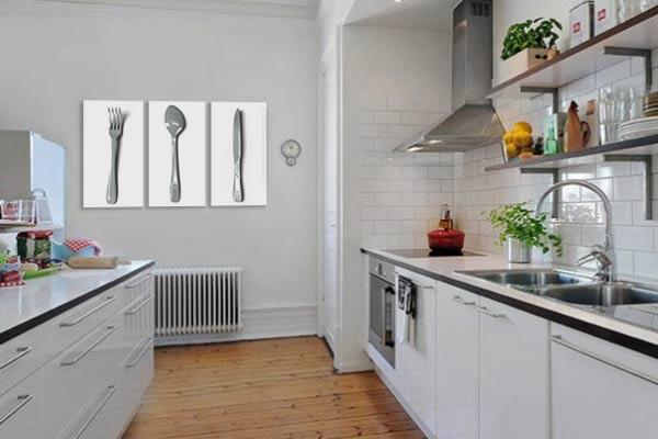 tableau triptyque pour cuisine moderne