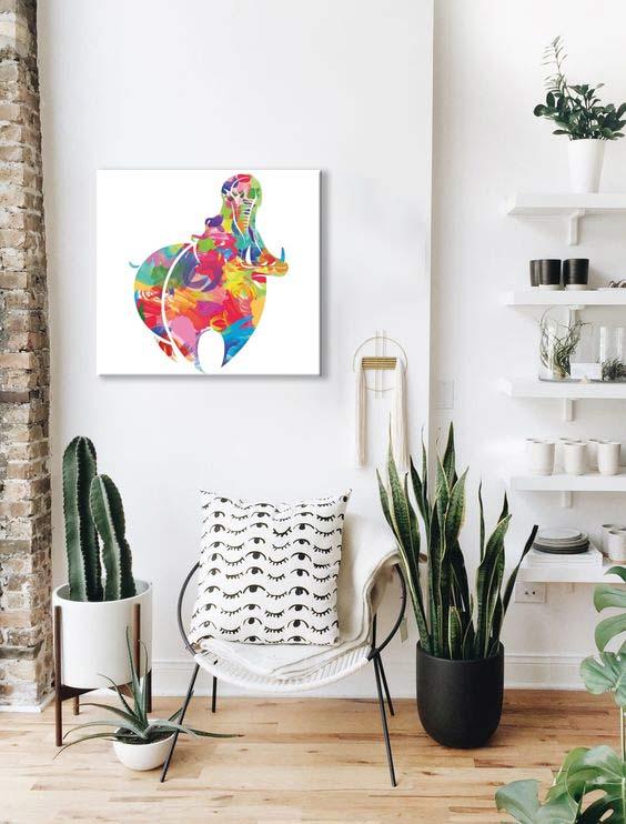 tableau-moderne-colore-hippo