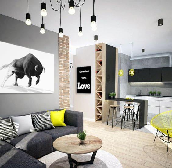 tableau moderne taureau déco salon