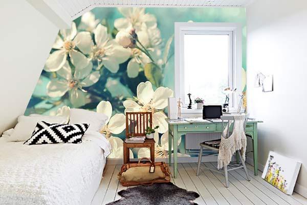 tapisserie-chambre-fleur