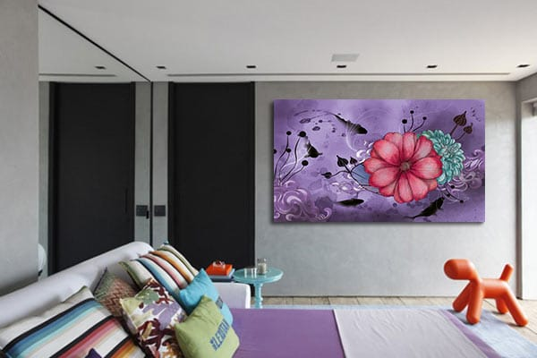 toile moderne originale violet