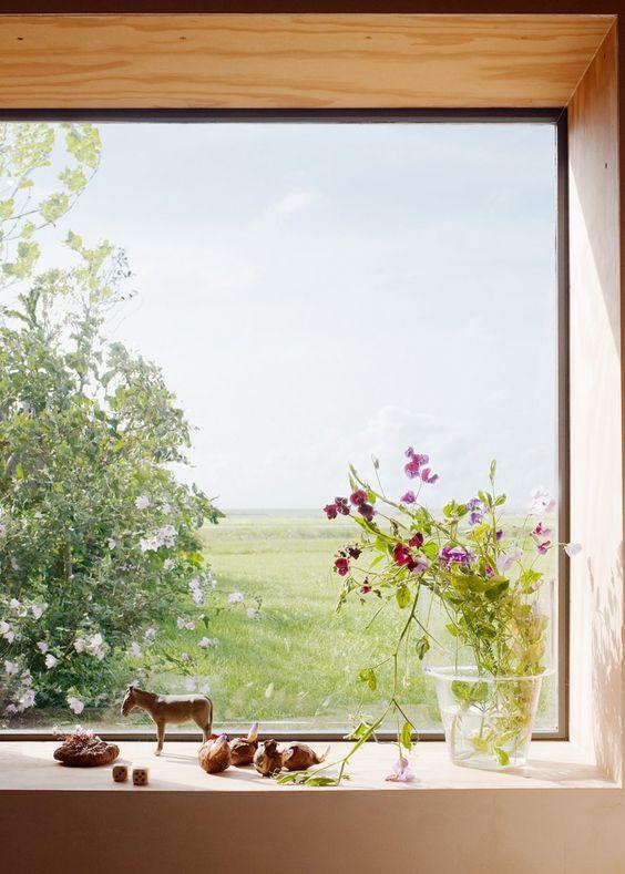 objets déco bord de fenêtre