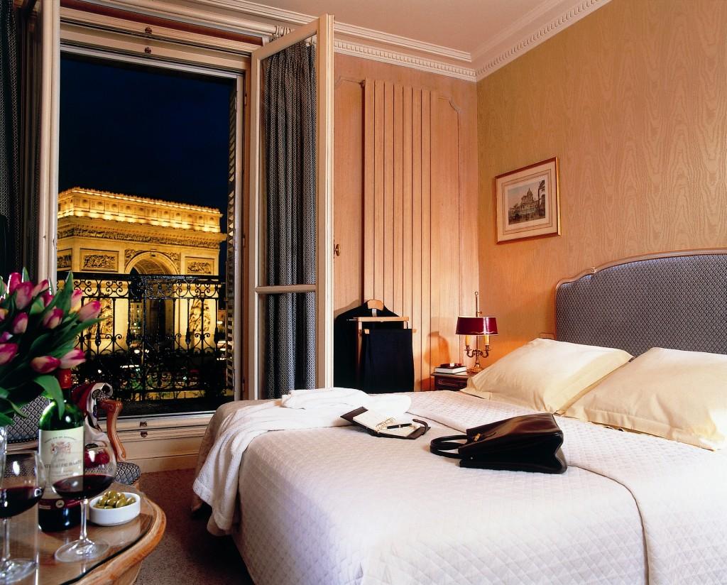 Hotel Waldorf trocadero vue arc de triomphe
