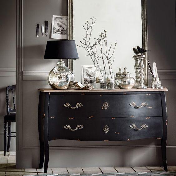 meuble noir gustavien
