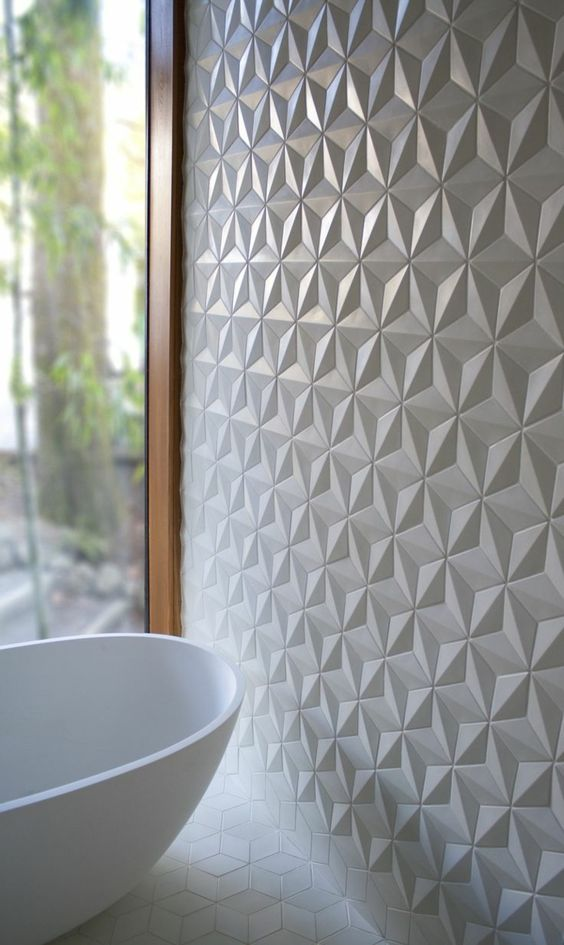carrelage mural design salle de bain