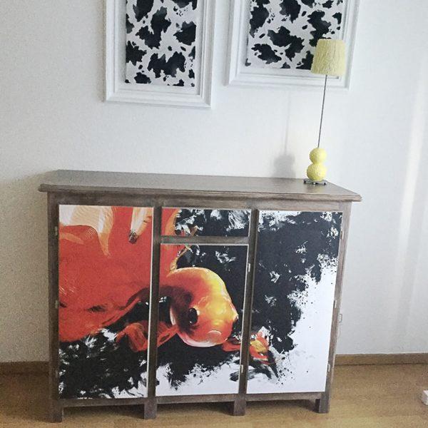 papier peint poisson pour renovation meuble