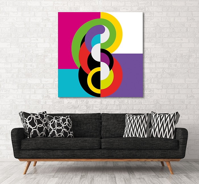 cadre déco coloré abstrait