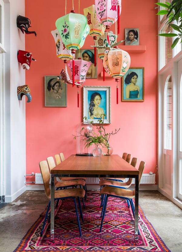 Décoration murale rose