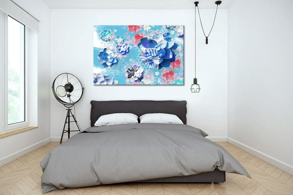 decoration-chambre-moderne-tableau-lotus
