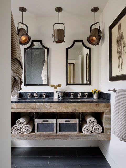 décoration salle de bain retro