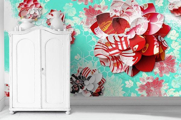 papier-peint-design-lotus-graphique