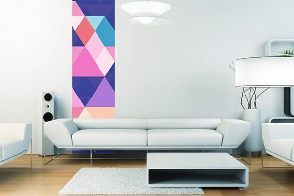 papier peint géométrique salon design