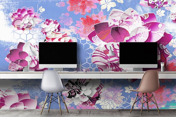 papier-peint-geometrique-zen-lotus