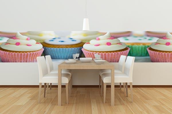 papier peint rose horizontal cupcake