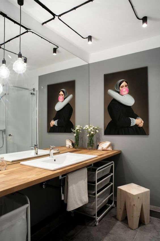 Un tableau décoration pour salle de bain - Blog Izoa