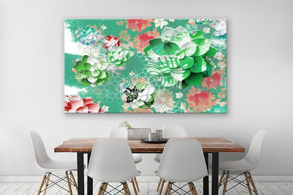 Cr ation lotus graphique tableau d co et papier peint for Poster decoratif mural