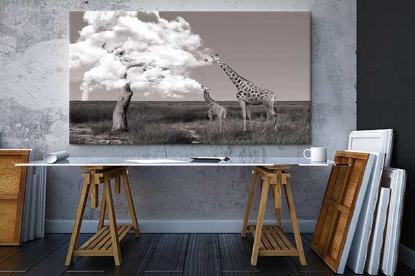 tableau-mural-original-girafes