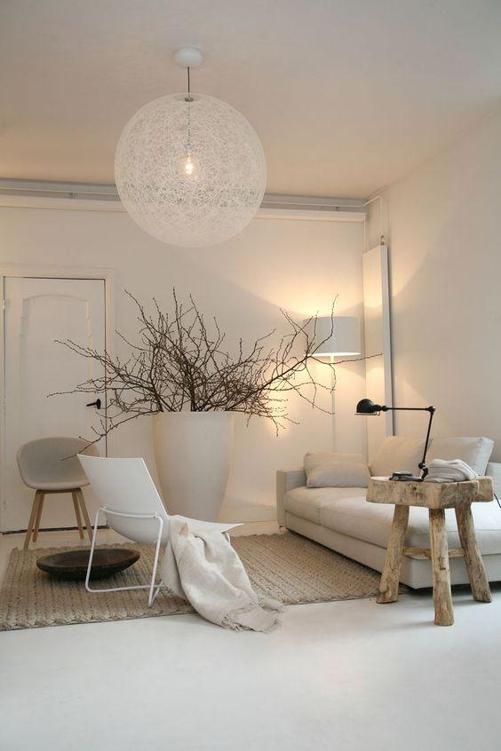 décoration salon couleur naturelle