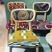 chaises tendances motifs africains