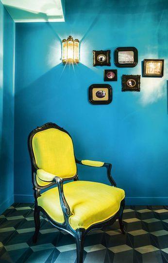fauteuil relooké moderne