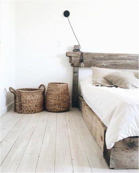 chambre matière bois minimaliste